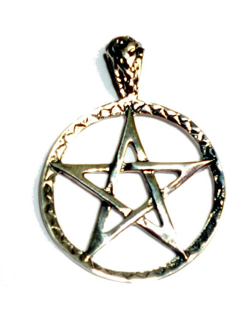 Pentagramme Pentagramm Anhänger, Sterling Silber 28 mm, ca. 5,7 g