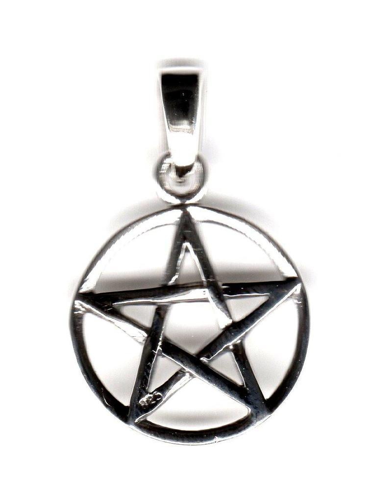 Pentagramm Anhänger, Sterling Silber, ca. 15 mm
