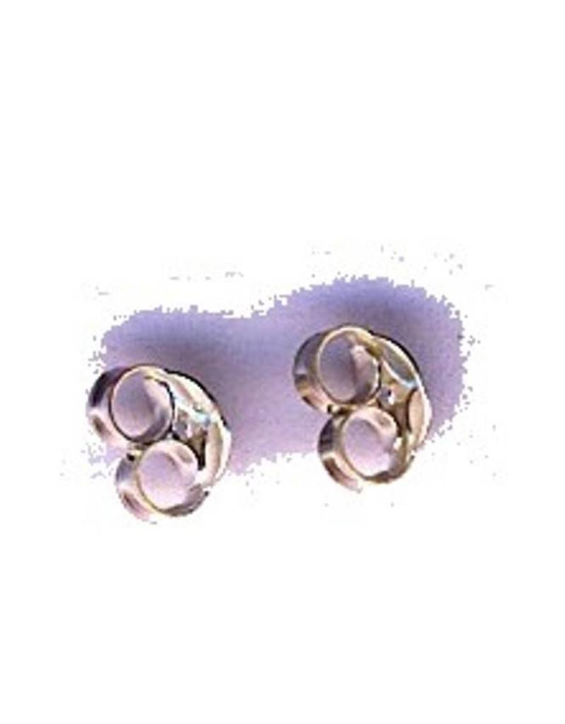 Ohrsteckermuttern, silber