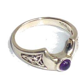 Halbmondring mit Amethyst, 925-Silber