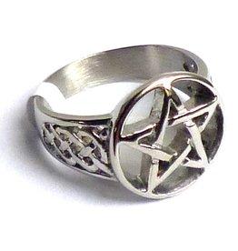 Pentagramme Pentagramm Ring, Edelstahl