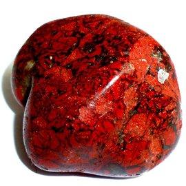 Roter Jaspis Trommelstein ab