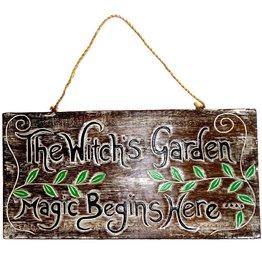 Schild für Hexengarten Witches Garden