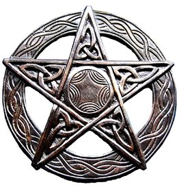 Pentagramm aus Holz, geschnitzt, groß