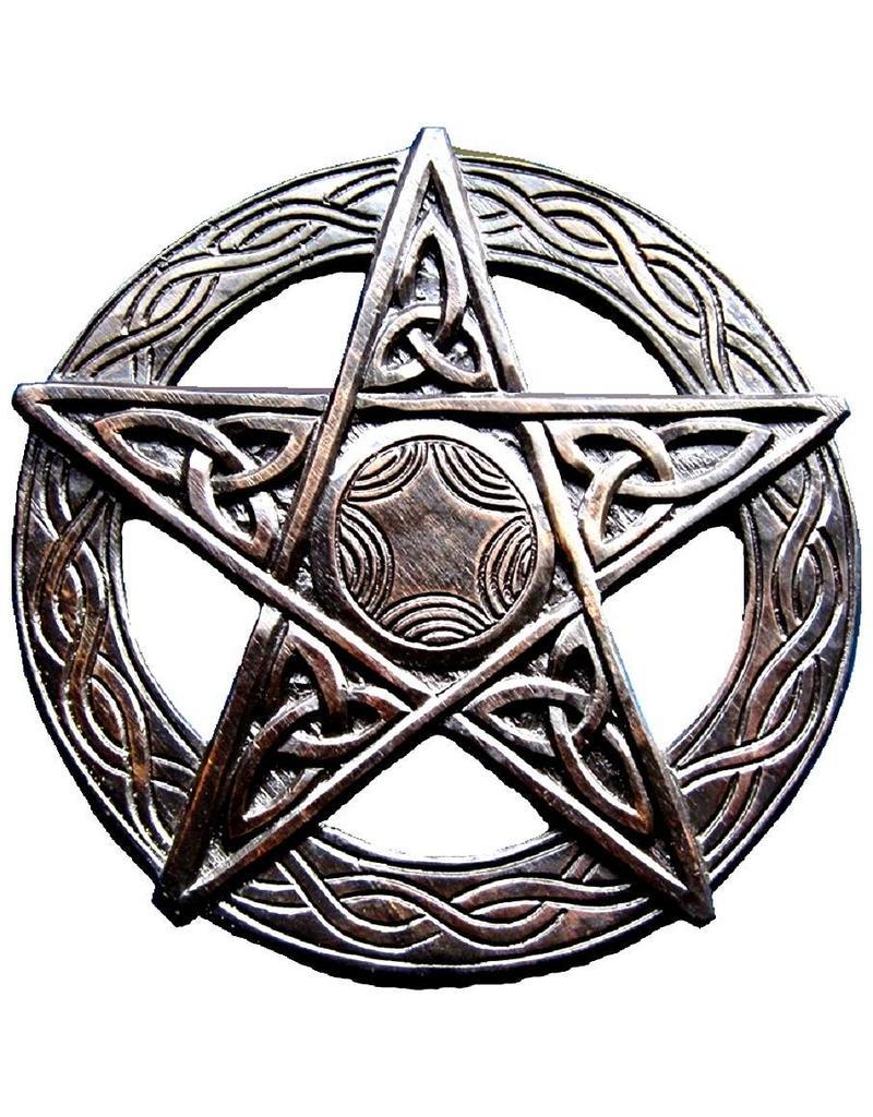 Pentagramm, geschnitzt, groß