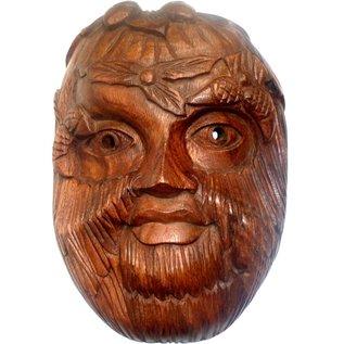 Green Lady & Green Man Holzmaske
