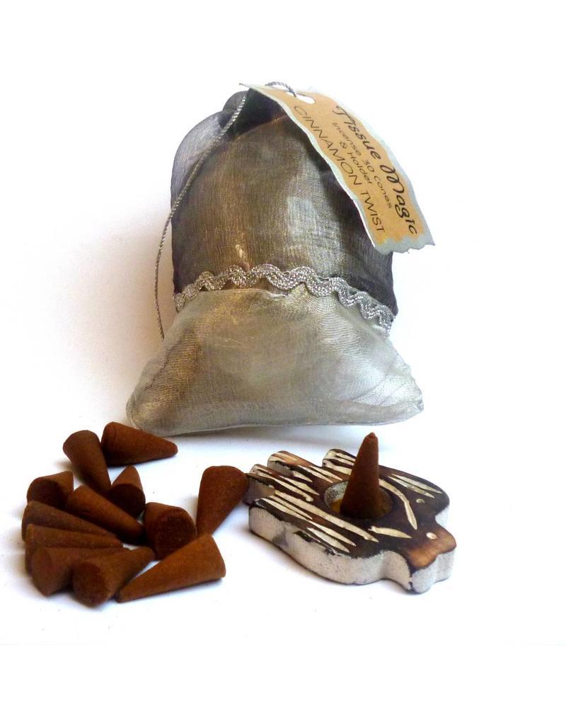 Tissue Magic Räucherkegel mit Halter im Beutel