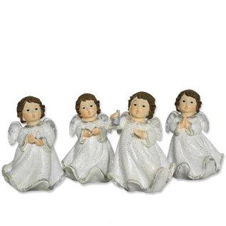 4 Engel stehend mit Symbolen
