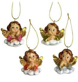 4 Engel auf Wolke, bemahlt, ab