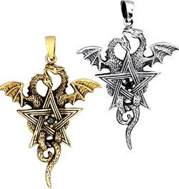Anhänger Pentagramm mit Drachen ab