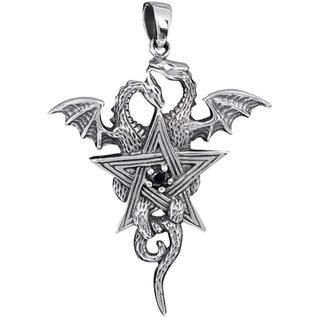 Pentagramm mit Drachen Anhänger