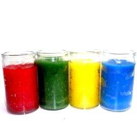Elemente Kerzen im Glas