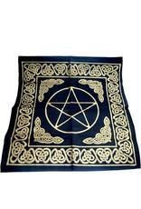 Keltisch Altartuch Pentagramm, groß mit Celtic Rahmen und Pentakel