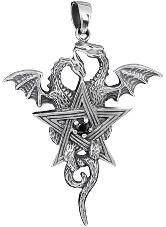 Anhänger Pentgramm und Drachen