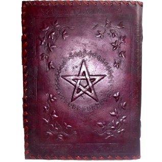 Schreibzeug Buch der Schatten mit Ledereinband und Messingbeschlägen