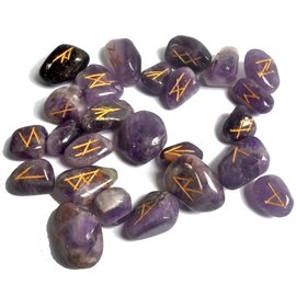 Runen Orakel Set aus Amethyst