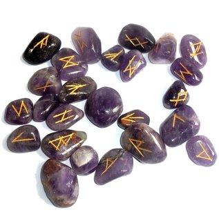 Runenset aus Amethyst