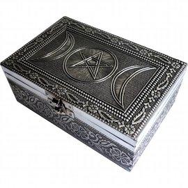 Kästchen Pentagramm mit Dreifachmond