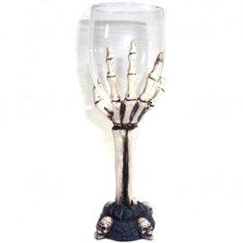 Glaskelch Knochenhand