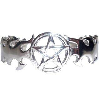 Armreif mit Pentagramm aus Edelstahl