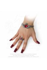 Schön gearbeiteter Claddagh Ring aus feinem englischen Zinn
