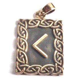Kenaz Rune, Amulett Anhänger