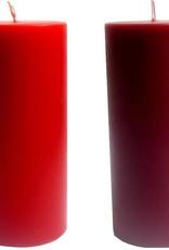 Durchgefärbt Durchgefärbte Stumpenkerzen