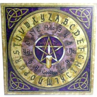 Witchboard klein mit Pentagramm und Triquetta