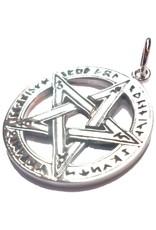 Pentagramm Anhänger, Sterling Silber, ca. 28 mm