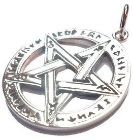 Pentagramm mit Runen, 28 mm