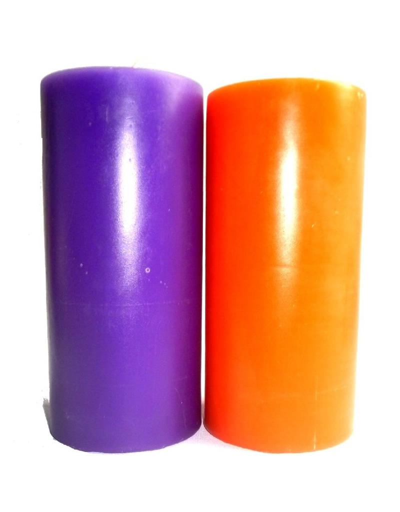 Durchgefärbt Durchgefärbte Stumpenkerzen - Mittelgroß