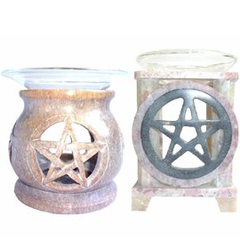 Pentagramme Duftlampe mit Pentagramm