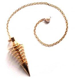 Spiralpendel vergoldet