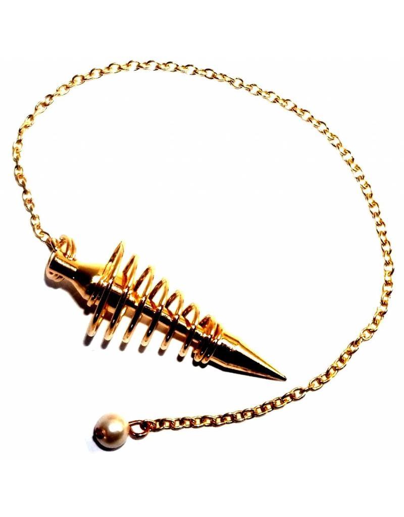 Vergoldetes Spiralpendel
