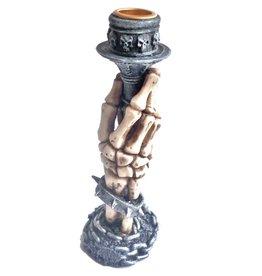 Kerzenhalter Skelett Hand
