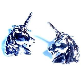 Einhorn Ohrringe, Sterling Silber, Ohrhänger oder -stecker
