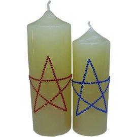 Altarkerze mit Pentagramm