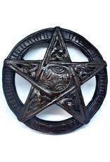 Pentagramm, geschnitzt, klein