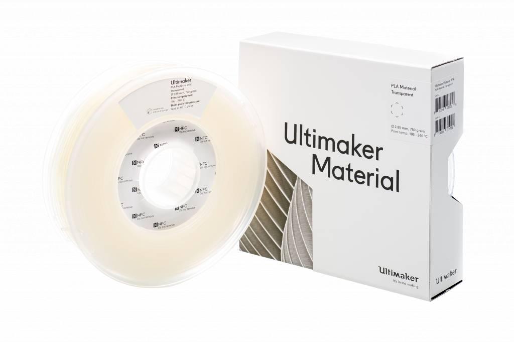 Ultimaker PLA 750gr Transparant