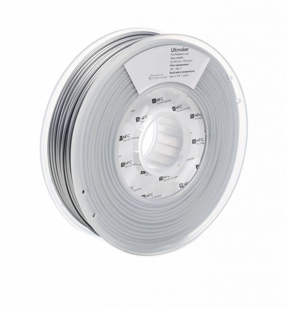 Ultimaker PLA 750gr Silver-Metallic
