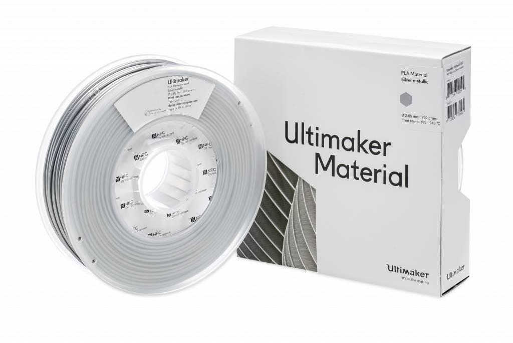 Ultimaker Ultimaker PLA 750gr Silver-Metallic