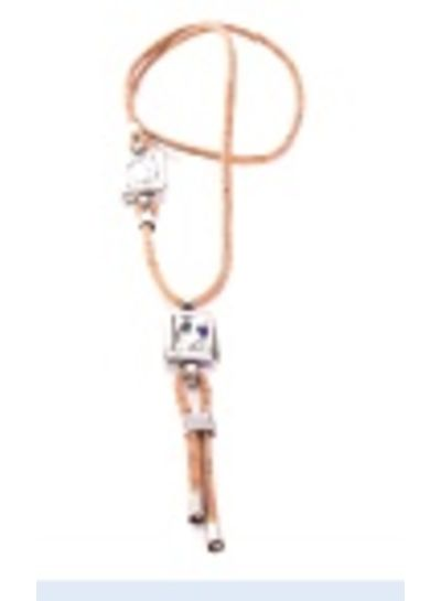 Lange halsketting met 2 kristallen steentjes FH-ART 1067/B