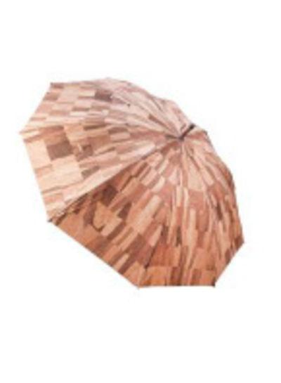 Mixed beige / bruine kurk paraplu FHH-T003