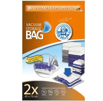 Pro Vacuumzakken Pro 45X70 cm | set 2 zakken (met ventiel voor vacuümpomp)