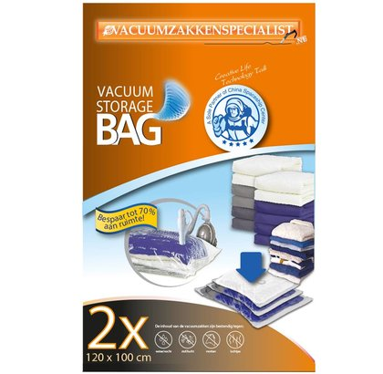 Pro Vacuumzakken 120X100 cm [Set 2 Zakken] (Geschikt Voor Vacuumpomp)