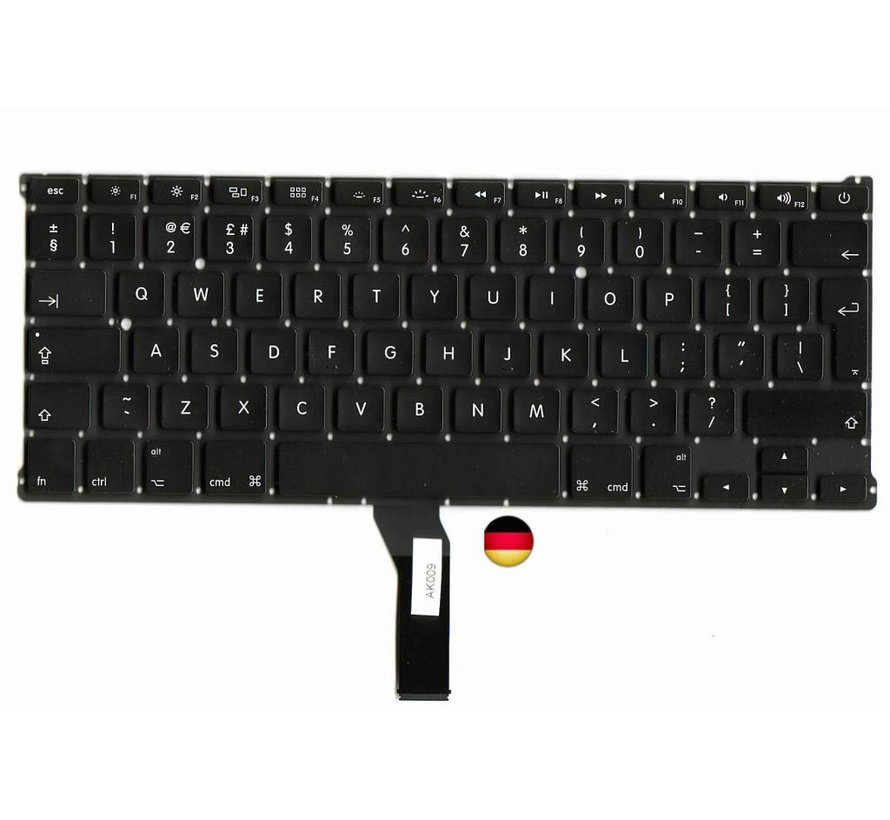 MacBook Air 13 inch A1369 en A1466 Toetsenbord - Duits / QWERTZ