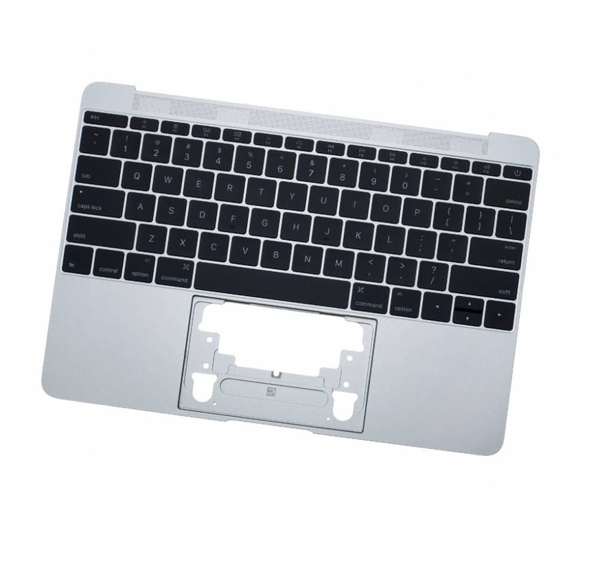 MacBook 12 inch topcase + toestenbord UK 2016 Zilver / Silver