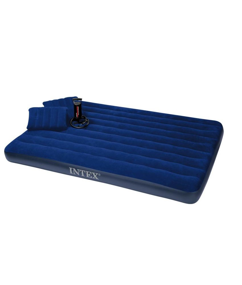 Intex Queen Classic Downy Airbed Set