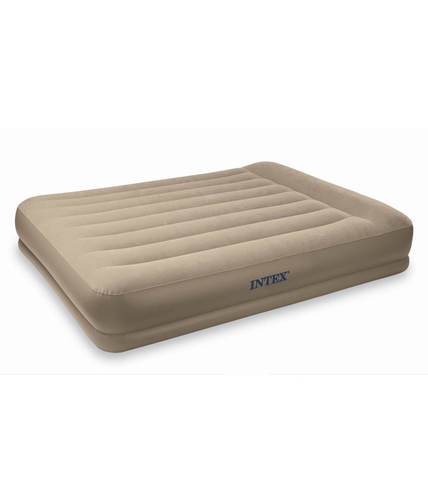 Intex Queen Pillow Rest Mid-Rise Airbed Kit