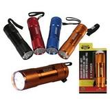 9 Led Flashlight + Batteries, flashlight, LED lamp, Lamp